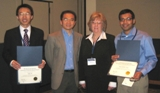 Award winners with Drs. Judy Todd and Tony Huang