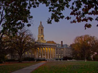 Old Main at Dusk - photo by William Ames