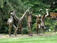 Olympic Wannabes by Glenda Goodacre, near the Hintz Family Alumni Center at Penn State